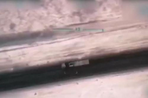 Một hệ thống Krasukha-4 được cho là đã bị phá hủy. Ảnh: Al Masdar News.