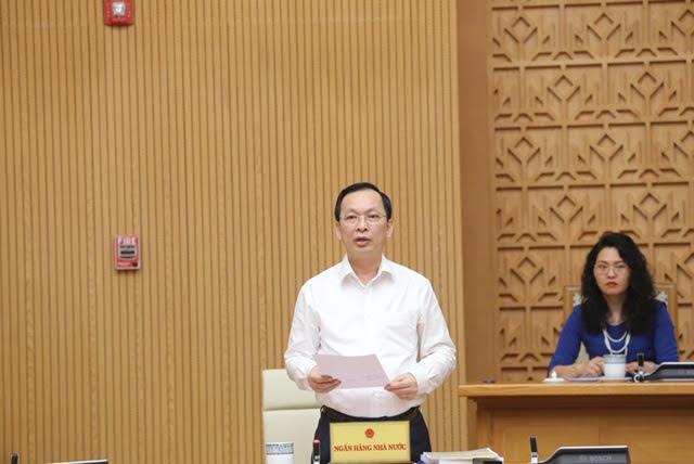 Phó Thống đốc Ngân hàng Nhà nước Đào Minh Tú phát biểu tại Hội nghị trực tuyến về cải cách hành chính ngày 19/5/2020.