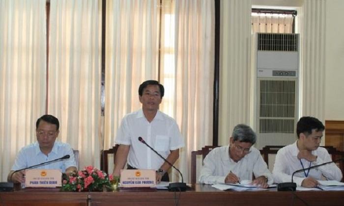 Phó Chủ tịch UBND tỉnh Thừa Thiên Huế Nguyễn Văn Phương kết luận buổi làm việc