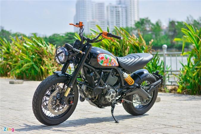 Ducati Scrambler lột xác với gói độ 200 triệu của biker Hà Nội ảnh 01