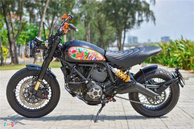 Ducati Scrambler lột xác với gói độ 200 triệu của biker Hà Nội ảnh 12