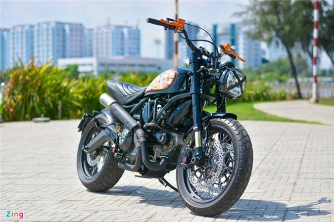 Ducati Scrambler lột xác với gói độ 200 triệu của biker Hà Nội ảnh 16