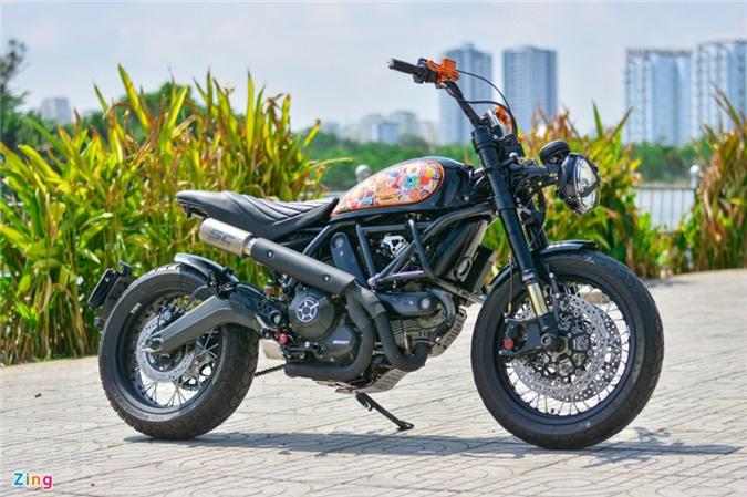 Ducati Scrambler lột xác với gói độ 200 triệu của biker Hà Nội ảnh 02