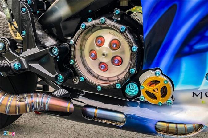 Yamaha Exciter độ phong cách Ducati Panigale V4 của biker Quảng Ngãi ảnh 14