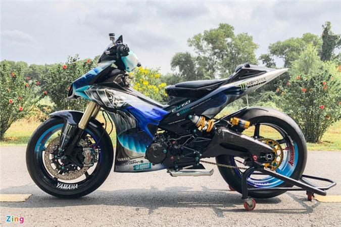 Yamaha Exciter độ phong cách Ducati Panigale V4 của biker Quảng Ngãi ảnh 02