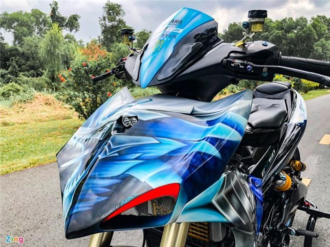 Yamaha Exciter độ phong cách Ducati Panigale V4 của biker Quảng Ngãi ảnh 03