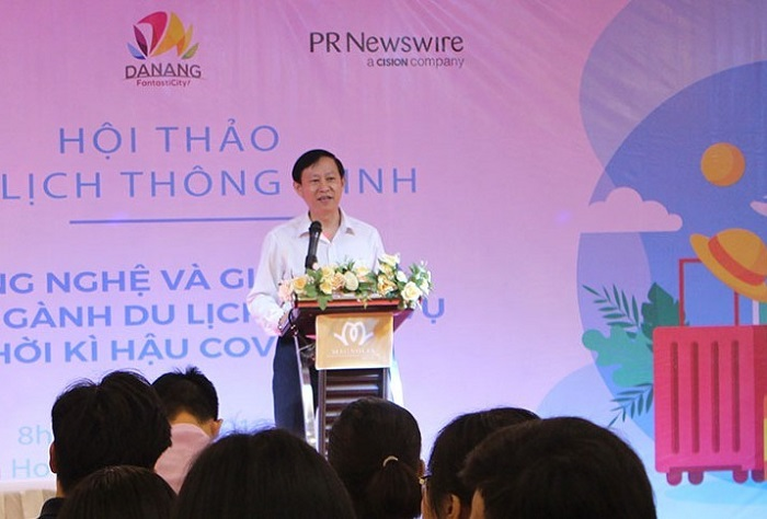 Ông Lý Đình Quân, Tổng giám đốc Songhan Incubator phát biểu tại hội thảo