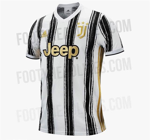 Áo đấu của Juventus với sọc đỏ - trắng rất đặc trưng