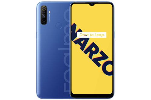 Realme Narzo 10A có vỏ ngoài bằng nhựa. Máy có kích thước 164,4x75x8,95 mm, cân nặng 195 g.