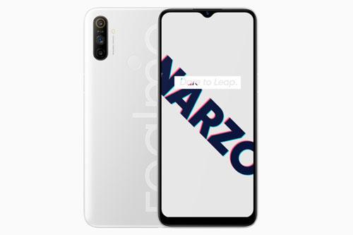Sức mạnh phần cứng của Realme Narzo 10A đến từ vi xử lý Mediatek Helio G70 (12nm) lõi 8 với xung nhịp tối đa 2 GHz, GPU Mali-G52 2EEMC2. RAM 3 GB/ROM 32 GB, có khay cắm thẻ microSD với dung lượng tối đa 256 GB. Hệ điều hành Android 10.0; được tuỳ biến trên giao diện người dùng Realme 1.0.