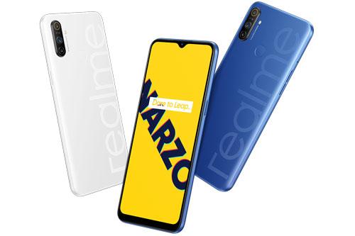 Realme Narzo 10A có 2 màu xanh dương và trắng. Vào ngày 22/5, Narzo 10A chính thức được lên kệ tại Ấn Độ với giá 8.499 Rupee (tương đương 2,63 triệu đồng).