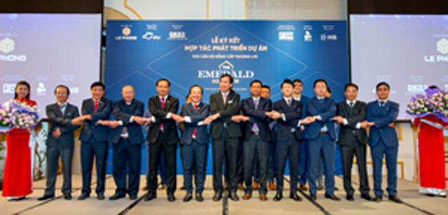 Lễ ký kết hợp tác ngày 21-5 giữa Chủ đầu tư Lê Phong với các đơn vị đối tác tại TPHCM