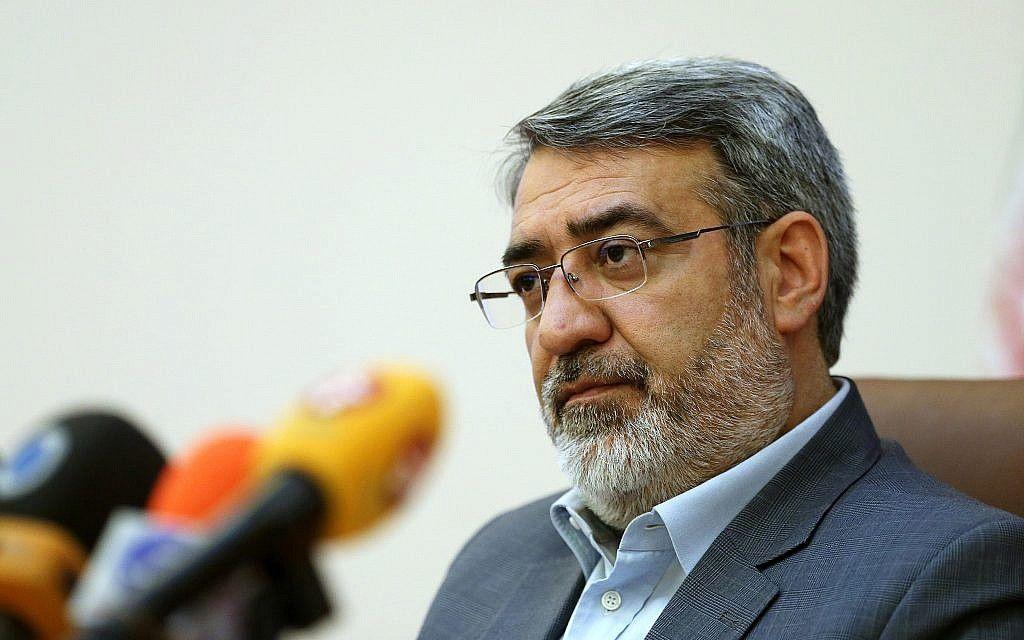 Bộ trưởng Nội vụ Iran Abdolreza Rahmani Fazli nằm trong danh sách các cá nhân, thực thể Iran bị Mỹ áp lệnh trừng phạt. (Nguồn: AP)