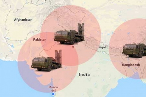 Hệ thống tên lửa phòng không S-400 sẽ giúp Ấn Độ kiểm soát tốt khu vực biên giới. Ảnh: TASS.