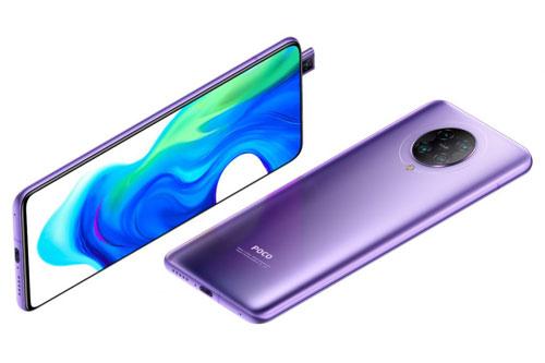 Xiaomi Poco F2 Pro sử dụng khung viền làm từ chất liệu nhôm, 2 bề mặt bằng kính cường lực Corning Gorilla Glass 5. Máy có số đo 163,3x75,4x8,9 mm, cân nặng 218 g.