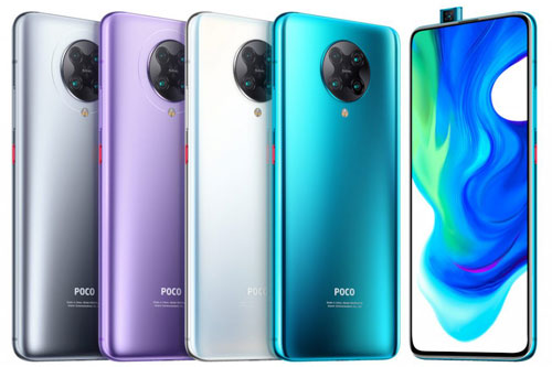 Xiaomi Poco F2 Pro có 4 tùy chọn màu sắc gồm Neon Blue, Phantom White, Electric Purple và Cyber Grey. Giá bán của bản RAM 6 GB là 499 euro (tương đương 12,60 triệu đồng). Phiên bản RAM 8 GB có giá 599 euro (15,13 triệu đồng).