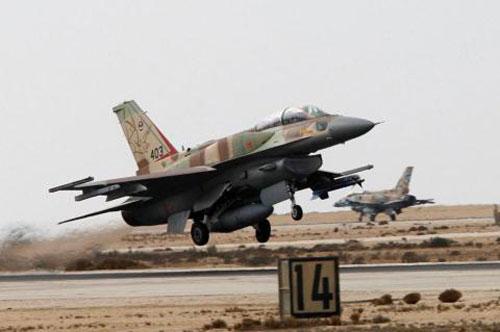 Tiêm kích F-16 Israel.
