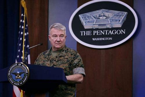 Tướng thủy quân lục chiến Kenneth McKenzie Tư lệnh Bộ Chỉ huy CentCom. (Nguồn: AFP)