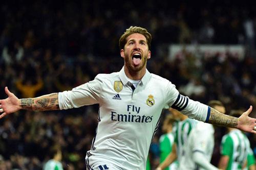 =6. Segio Ramos (Real Madrid - 5 bàn thắng).