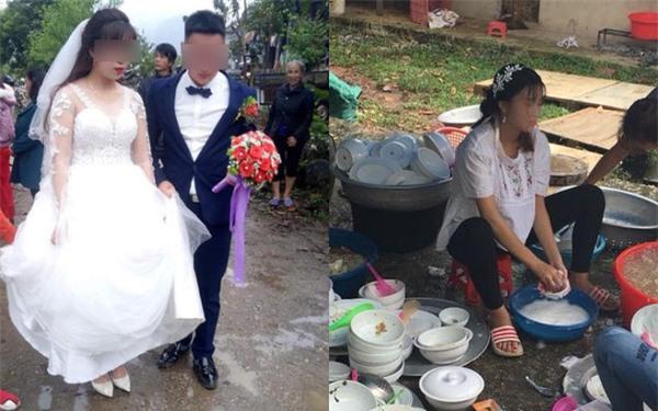 Lỡ mang bầu trước cưới, cô dâu bức xúc khi mẹ chồng yêu cầu không được cùng chú rể bước vào cổng rạp, tự mình ngồi rửa hết 40 mâm cỗ - Ảnh 2.