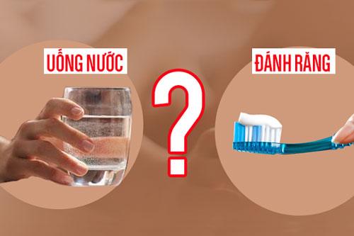 Sáng ngủ dậy nên uống nước trước hay đánh răng trước? Câu trả lời đơn giản nhưng có đến 90% người sai