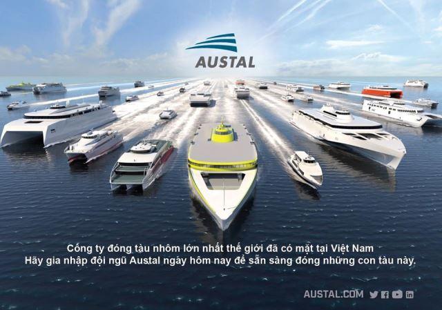 Ausral là Hãng đóng tàu vỏ nhôm tốc độ cao hàng đầu thế giới.