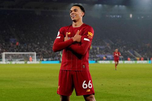 10. Trend Alexander-Arnold (Liverpool - Giá trị chuyển nhượng:99 triệu euro).