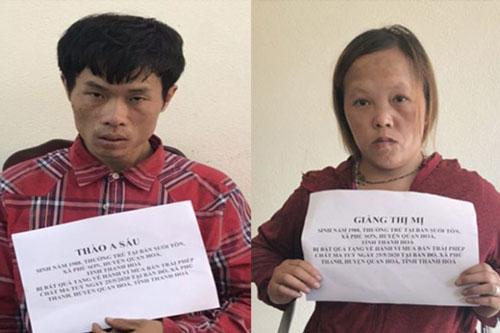 Thanh Hóa: Đôi tình nhân buôn ma túy, chống đối quyết liệt lực lượng công an