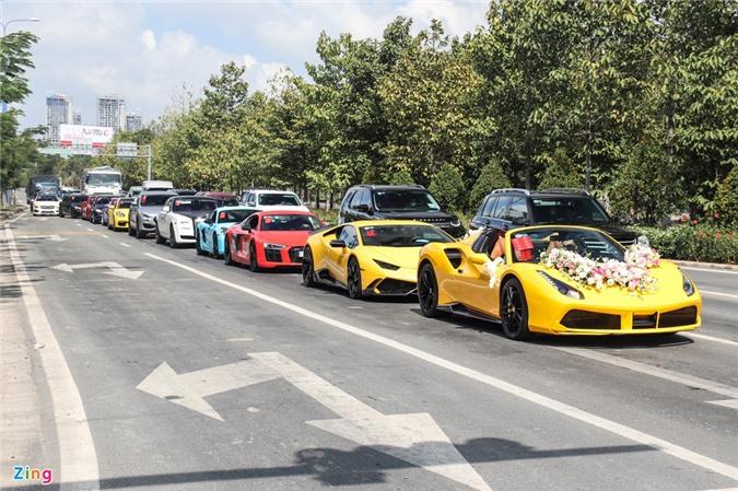 Dàn siêu xe hoành tráng tại lễ cưới ở TP.HCM ảnh 01