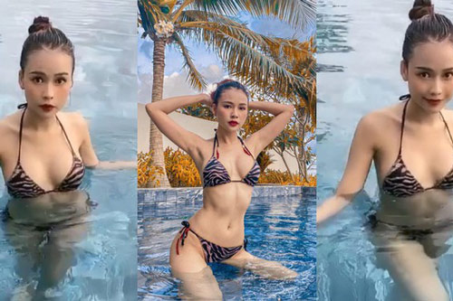 Lần hiếm hoi hotgirl Sam diện bikini khoe body gợi cảm