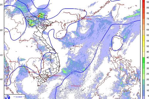 Hôm nay (28/5), miền Bắc mưa dông cả ngày lẫn đêm