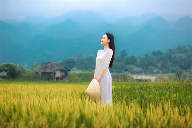 Á khôi Sinh viên Việt Nam khoe nét xuân thì bên cánh đồng lúa - 5