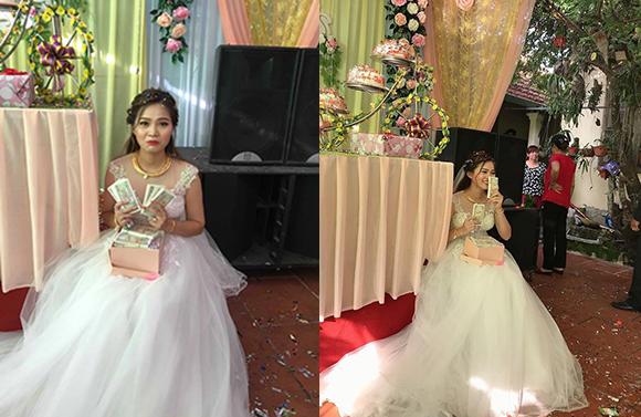 Hình ảnh cô dâu được chia sẻ trên mạng