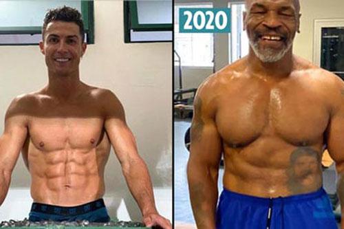Mike Tyson lấy lại thân hình 6 múi nhờ phương pháp của Ronaldo