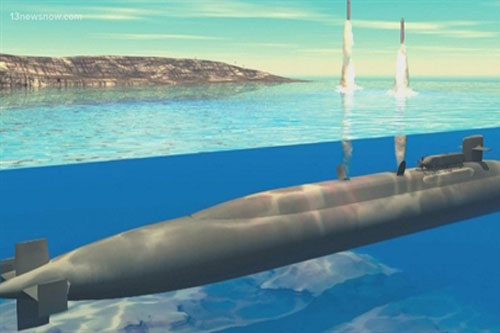 Nga chế giễu 'tàu ngầm hạt nhân dát vàng' của Mỹ