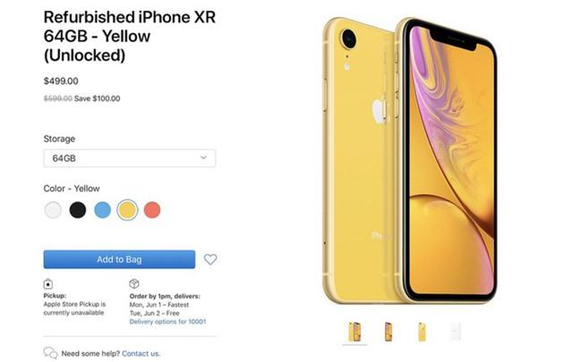 Apple bán iPhone XR với giá chỉ 499 USD - Ảnh 1.