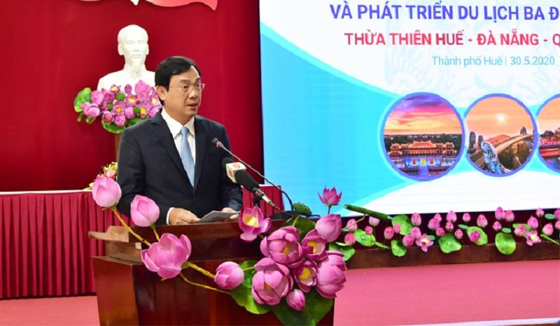 Ông Nguyễn Trùng Khánh, Tổng cục trưởng Tổng cục Du lịch Việt Nam phát biểu tại buổi lễ.