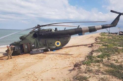 Trực thăng Mi-8 của Ukraine rơi khi tập trận