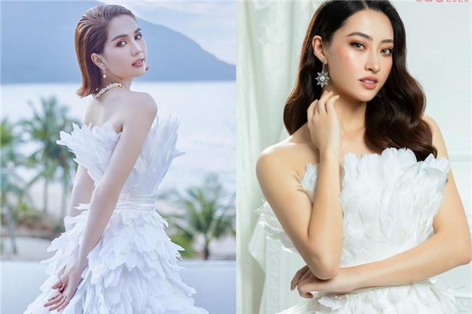 Cùng 1 bộ váy: Ngọc Trinh kém đẹp so với Lương Thùy Linh vì vóc dáng gầy gò quá đà, trơ xương thiếu sức sống - Ảnh 1.