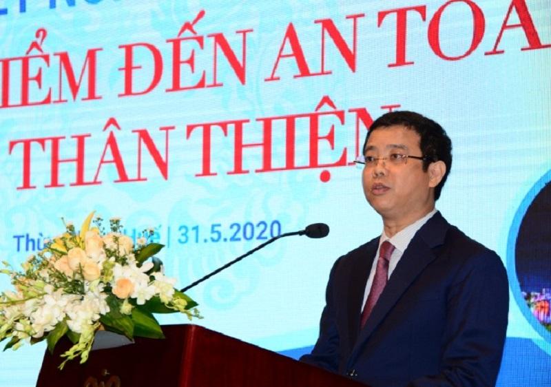 Ông Nguyễn Lê Phúc, Phó Tổng cục trưởng Tổng cục Du lịch phát biểu tại Diễn đàn.
