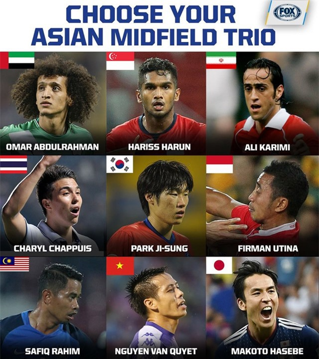 Văn Quyết lọp top tiền vệ được yêu thích nhất châu Á - Ảnh 1.