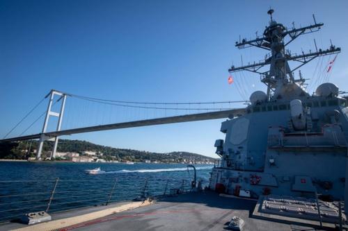 Khu trục hạm USS Porter của Hải quân Mỹ đã cố gắng vượt qua eo biển Kerch. Ảnh: Sohu Military.