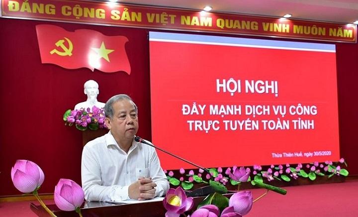 Chủ tịch UBND tỉnh Thừa Thiên Huế Phan Ngọc Thọ phát biểu chỉ đạo tại hội nghị.