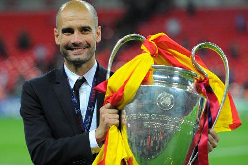 2. Pep Guardiola (Barca, Bayern Munich, Man City - Tỷ lệ chiến thắng: 61%, vô địch 2 lần).