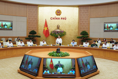 Chính phủ họp phiên thường kỳ vào ngày 2/6. Ảnh: VGP/Quang Hiếu