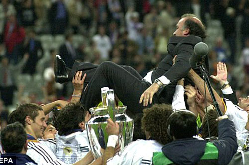 8. Vicente del Bosque (Real Madrid - Tỷ lệ chiến thắng: 57%, vô địch 2 lần).