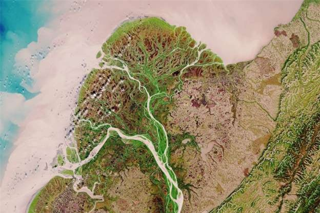 Châu thổ sông Yukon ở Alaska, Mỹ.