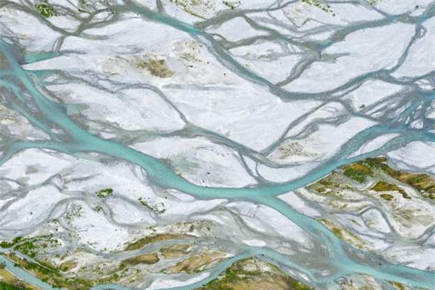 Châu thổ sông Sandur ở Na Uy.