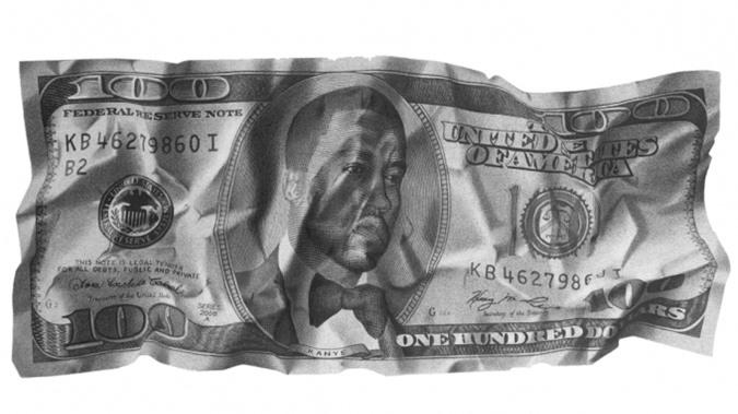 Tờ tiền in hình nam ca sĩ Kanye West đã được chính nam ca sĩ này mua (Ảnh: CNN).