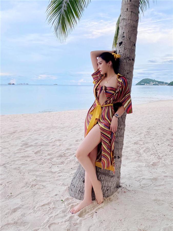 Hoa hậu Kỳ Duyên gợi cảm sau nỗ lực giảm cân - Ảnh 1.
